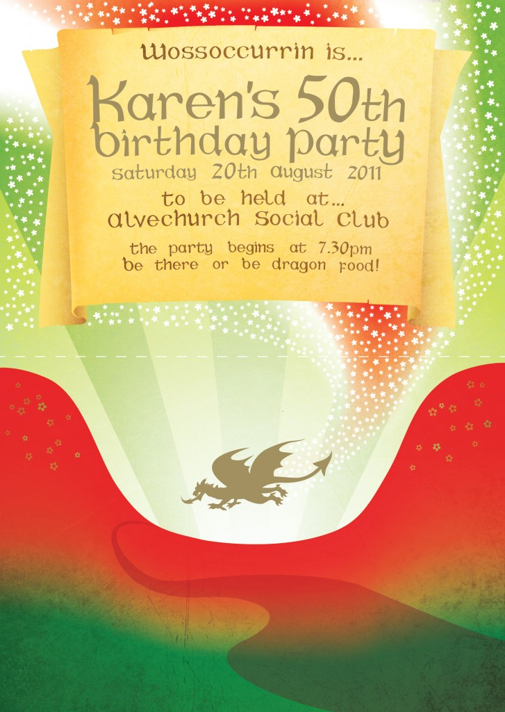Welsh Birthday Invite
